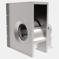 Centrifugal fan with backward curved impellers and IEC standard motor